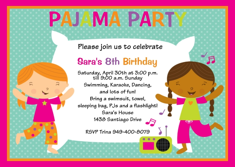 Pajama Party Invitation and get inspiration to create nice invitation ideas