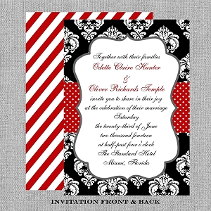 Black and White Formal Wedding Invitations - Bridal Shower Invitation
