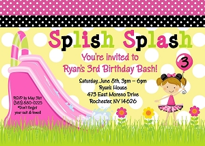 Minnie Mouse Pool Party Birthday Invitation, Printable or Printed