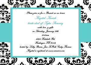 Tiffany Blue Bridal Shower Invitations - Wedding Invitation