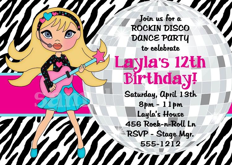 Similiar Rock Star Dance Party Invitations Keywords – Disco Birthday Party Invitations