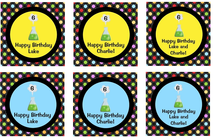 Mad Science Birthday Party Invitations