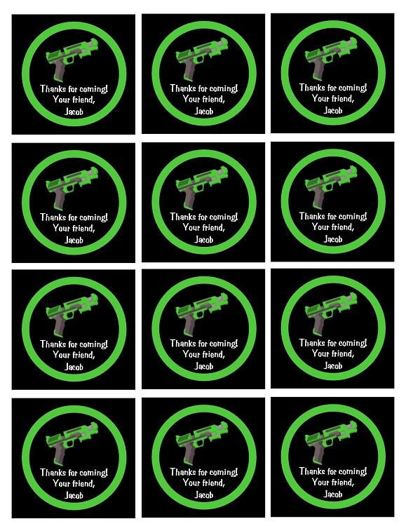 Airsoft nerf gun laser tag invitations printable or printed laser tag birthday invitations air soft nerf gun birthday invitations printable digital invite filmwisefo