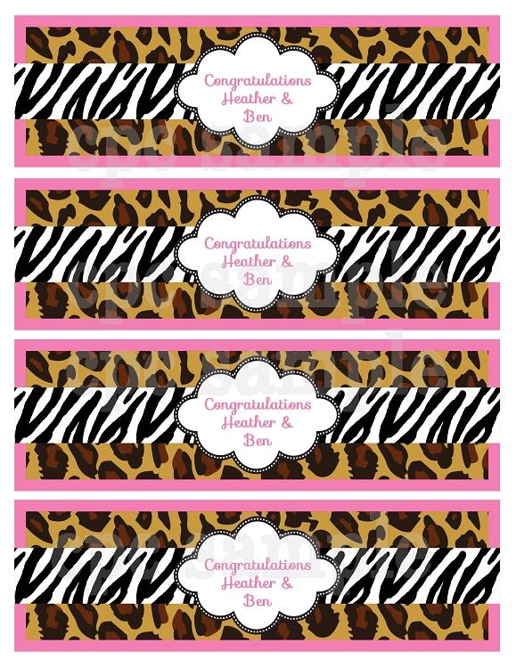 leopard zebra print baby shower invitations