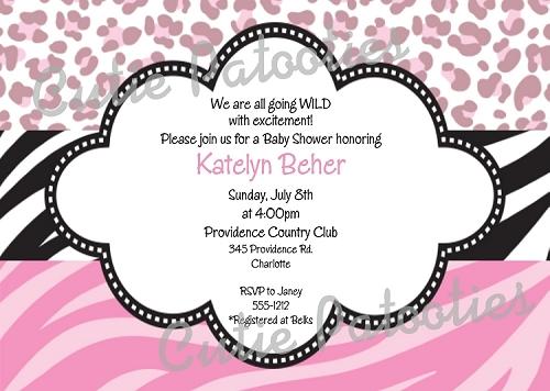 Kids birthday invitations featuring Animal Print Themes – Animal Print Party Invitations