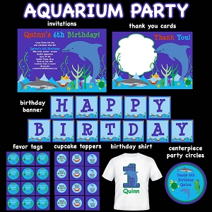 Under the Sea Theme Birthday Invitations and Decorations