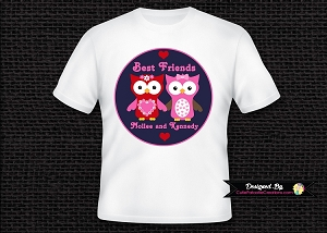 Personalized Best Friend Owl T-Shirt