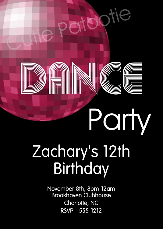 dance party invite