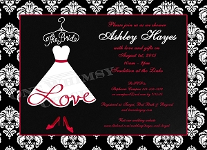 Lace Bride Dress Wedding Shower Invitation - Bridal Shower Invitations
