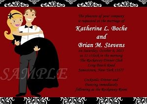 Bride Groom Bridal Shower Invitations - Wedding Invitations