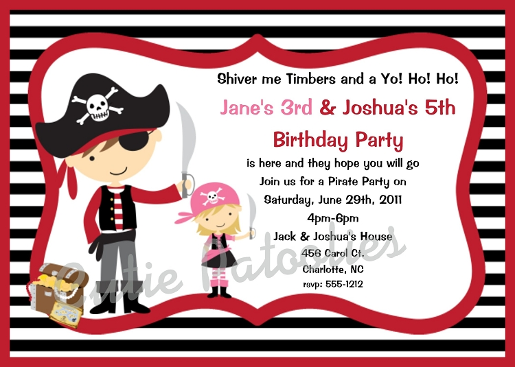 Browse our large collection of Pirates Invitations Invitations by – Pirate Party Invite