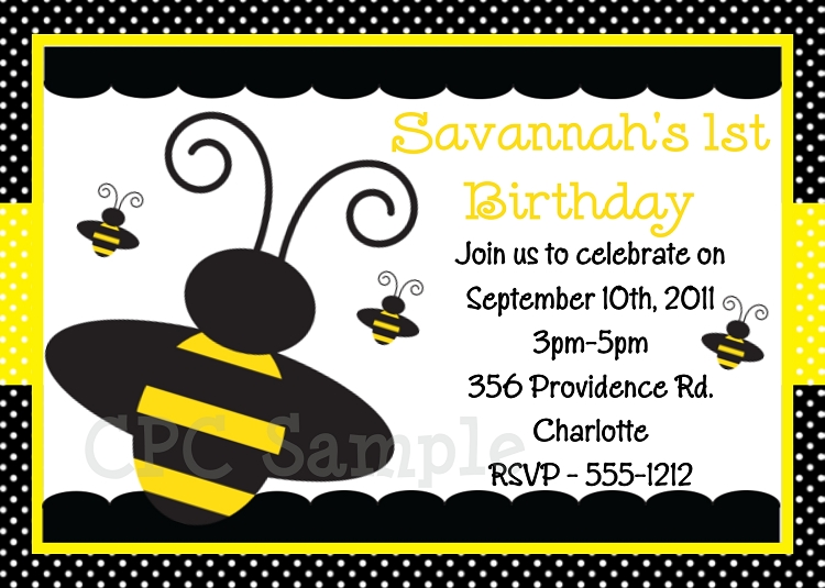 Bumble bee birthday invitations bumble bee birthday invitation filmwisefo