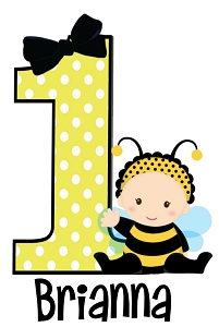 Personalized Bumble Bee TShirt or Onesie