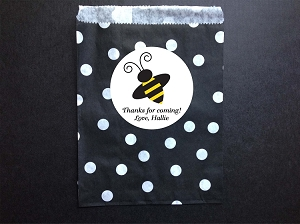 Bumble Bee Party Favor Bags and Personalized Stickers