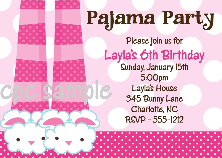 Pajama birthday party invitations sleepover invitations pajama birthday party invitations sleepover invitations printable or printed filmwisefo