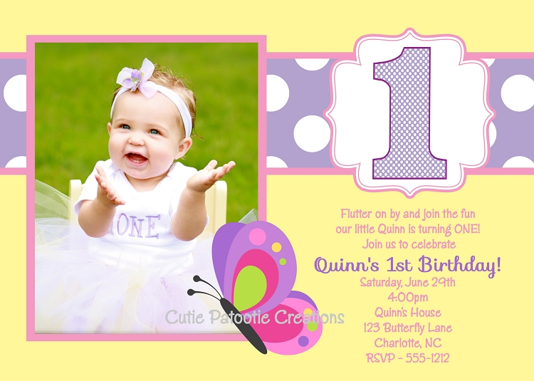 Pastel Butterfly Birthday Invitation - Butterfly birthday invitation images