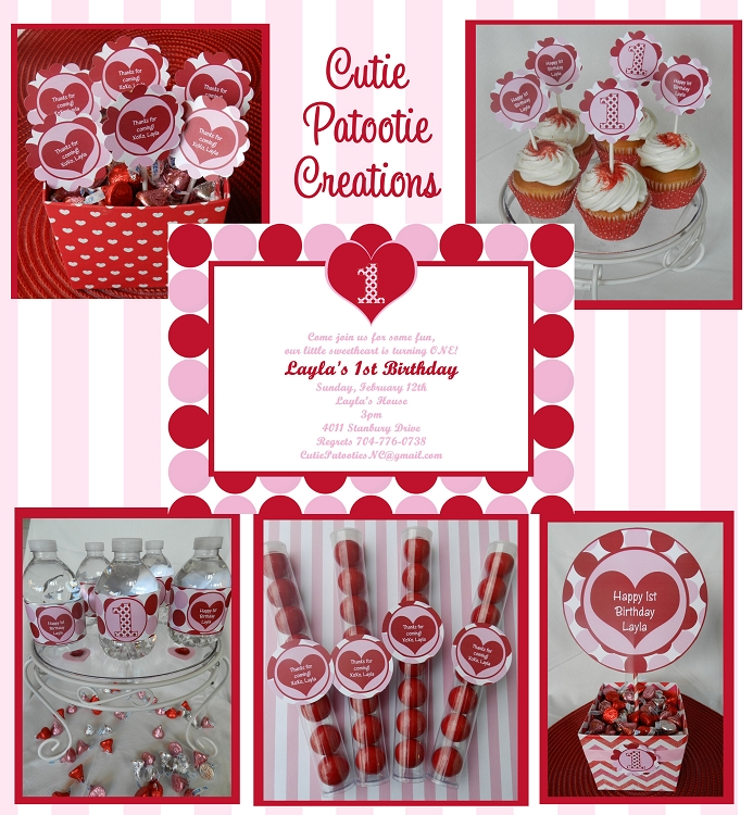 valentines day 1st birthday invitations, Ideas