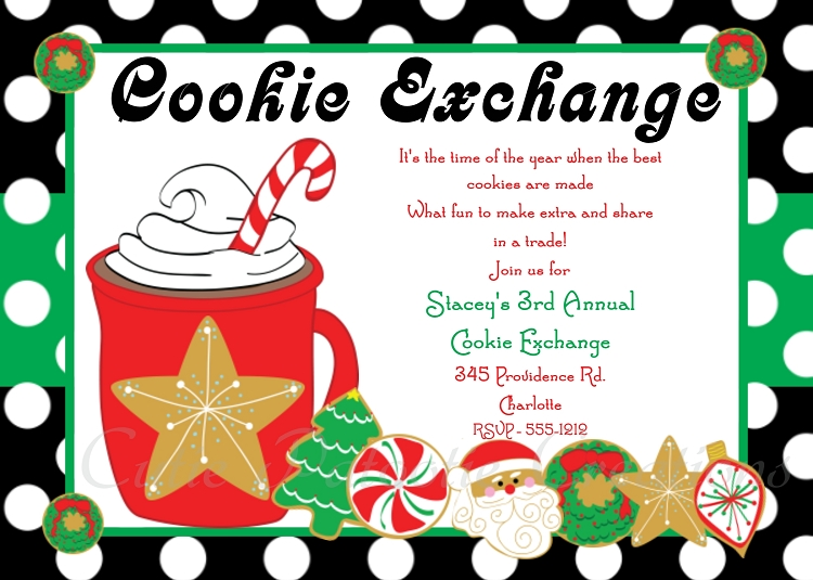 Hot Cocoa & Cookies Holiday Party Printable Party Invitation