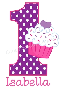 Personalized Cupcake Birthday T-Shirt or Bodysuit