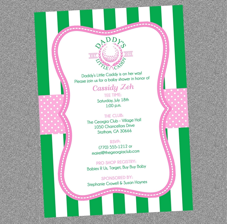 Golf Theme Daddy S Little Caddy Baby Shower For Girls