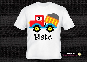 Personalized Dump Truck Birthday Party T-Shirt or Onesie