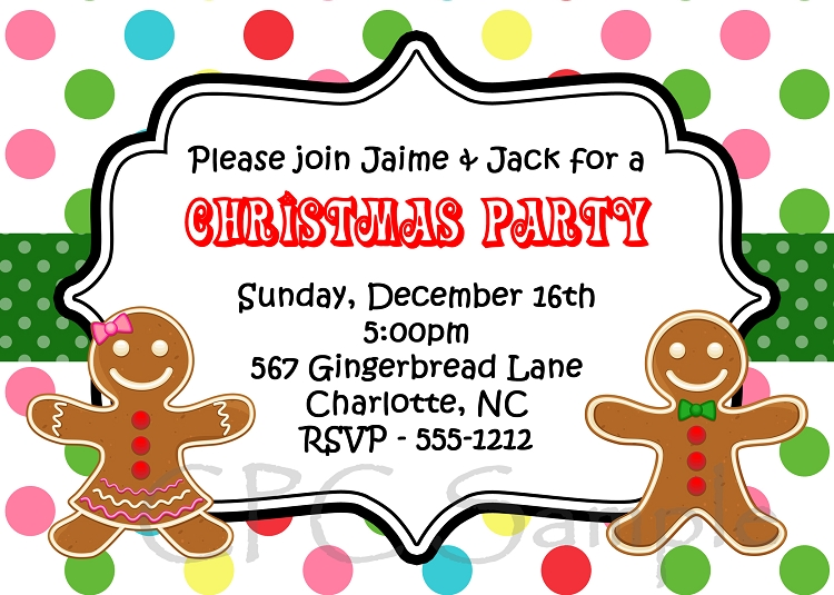 kids christmas party invitation