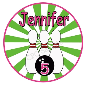 Personalized Bowling Birthday Party Tshirt or Bodysuit