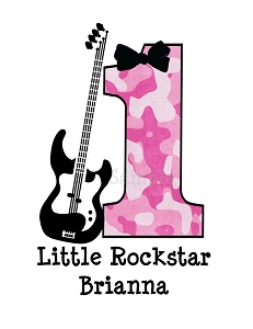 Personalized Rock Star Birthday T-Shirt or Bodysuit