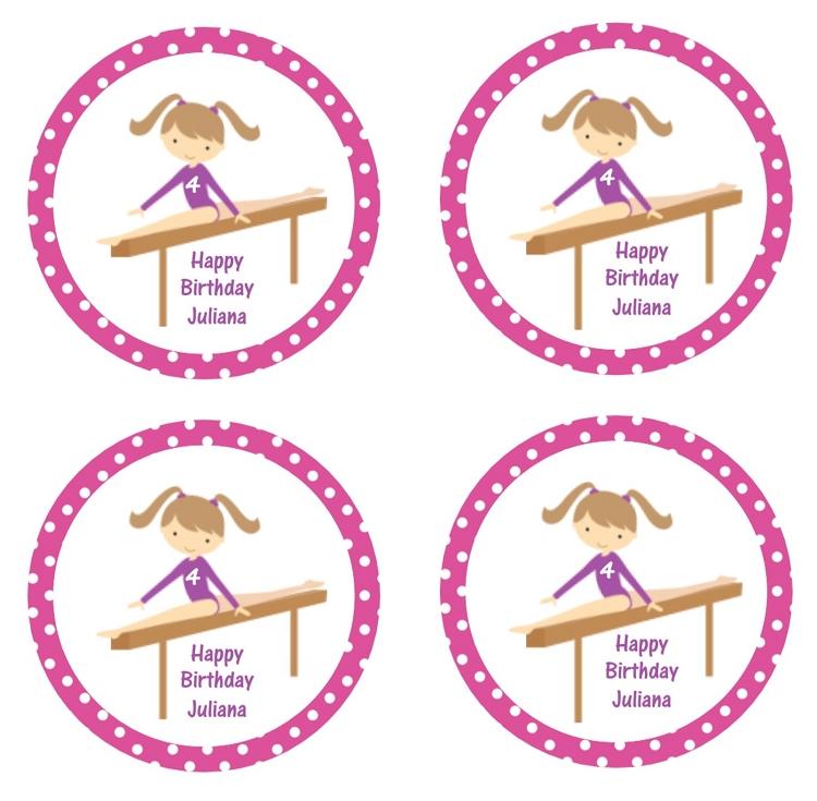 Girls Gymnastics Birthday Party Invitations Printable or Printed