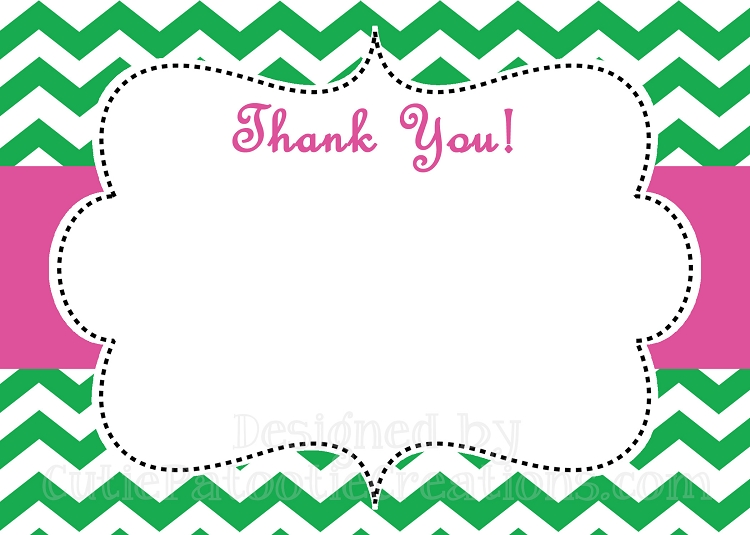 Kids Printable or Printed Thank You Note Cards – Printable Thank You Note
