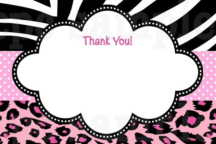 Pink Zebra Invitations with nice invitation template