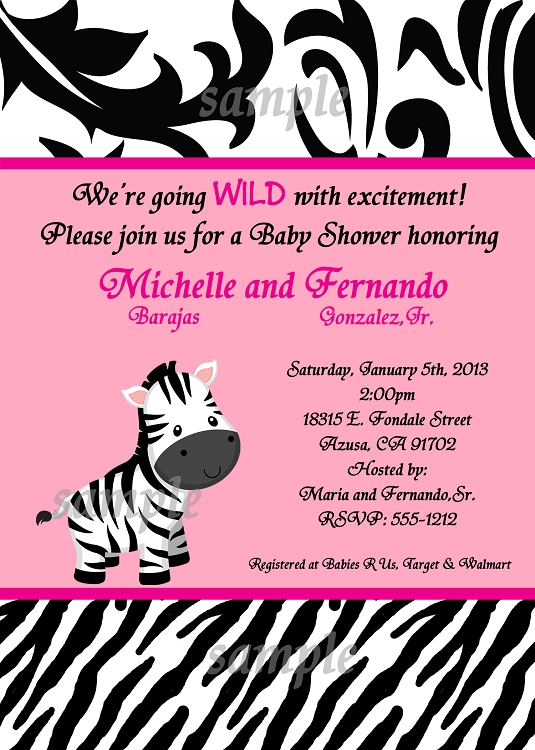 Zebra Baby Shower Invitations correctly perfect ideas for your invitation layout