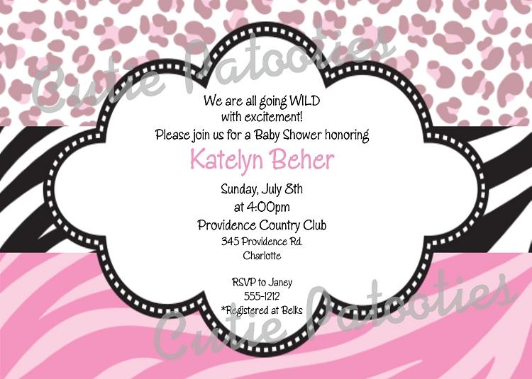 Pink animal print baby shower - photo#18