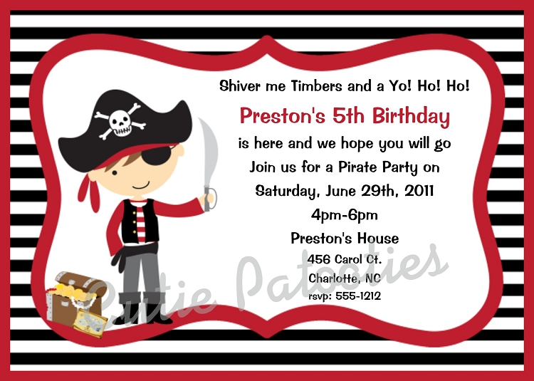 Browse our large collection of Pirates Invitations Invitations by – Pirate Birthday Invitations