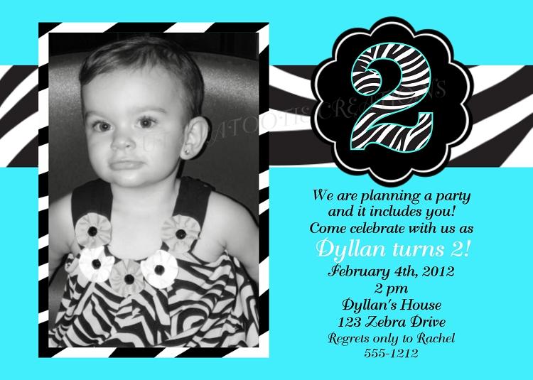 kids birthday invitations featuring animal print themes., Birthday invitations