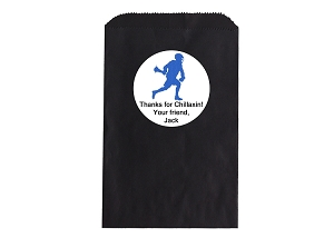 Lacrosse Favor Bags and Stickers