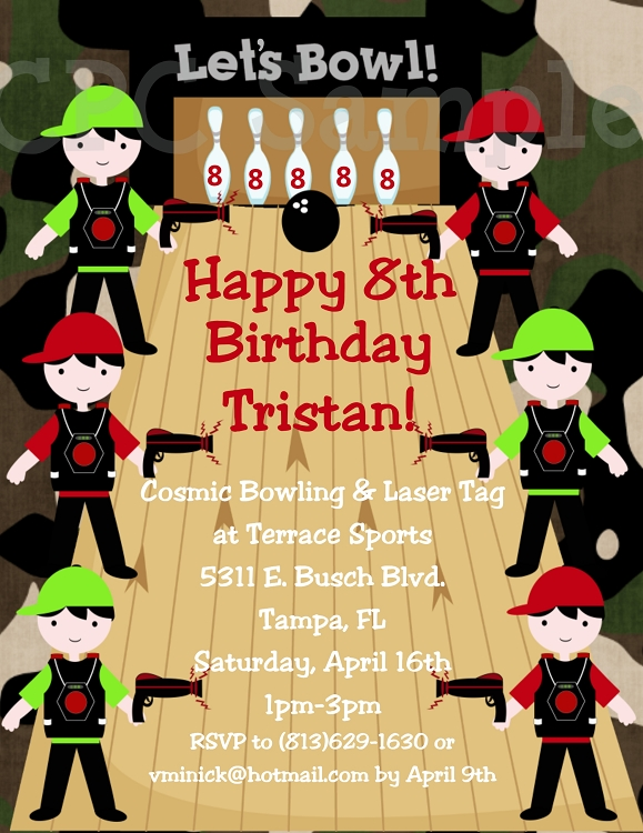 Laser Tag themed birthday party invitations – Laser Tag Party Invitations