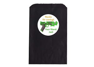 Laser Tag Party Favor Bags and Personalized Stickers