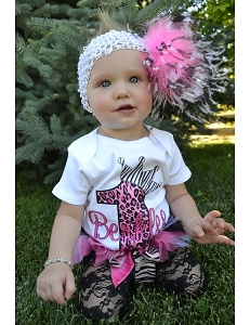 Hot Pink Leopard Print Birthday Shirt - ANY AGE