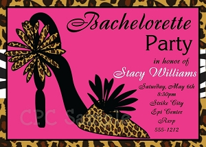 Leopard Print Bachelorette Party Invitations - Wedding Shower Invitations