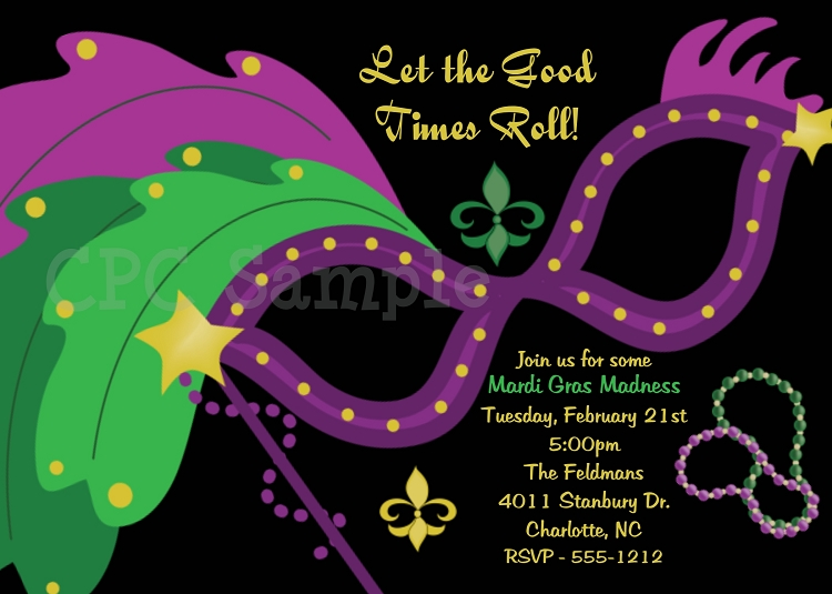 Mardi Gras Invitations Mardi Gras Party Invitations