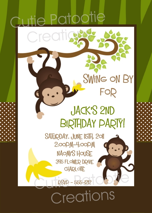 Monkey Birthday Invitations can inspire you to create best invitation template