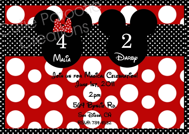 kids party invitations minnie mickey mouse minnie mouse mickey mouse