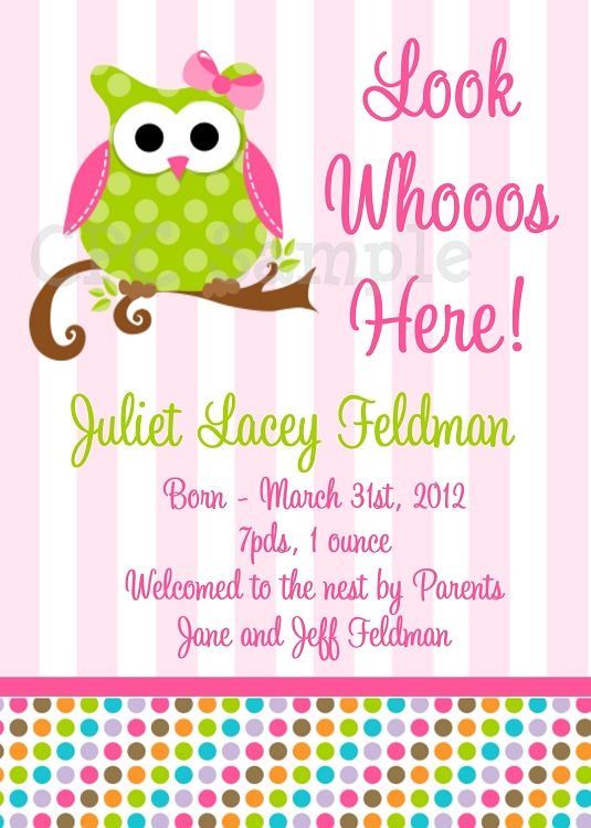 Free Printable Owl Baby Shower Invitations diabetesmanginfo