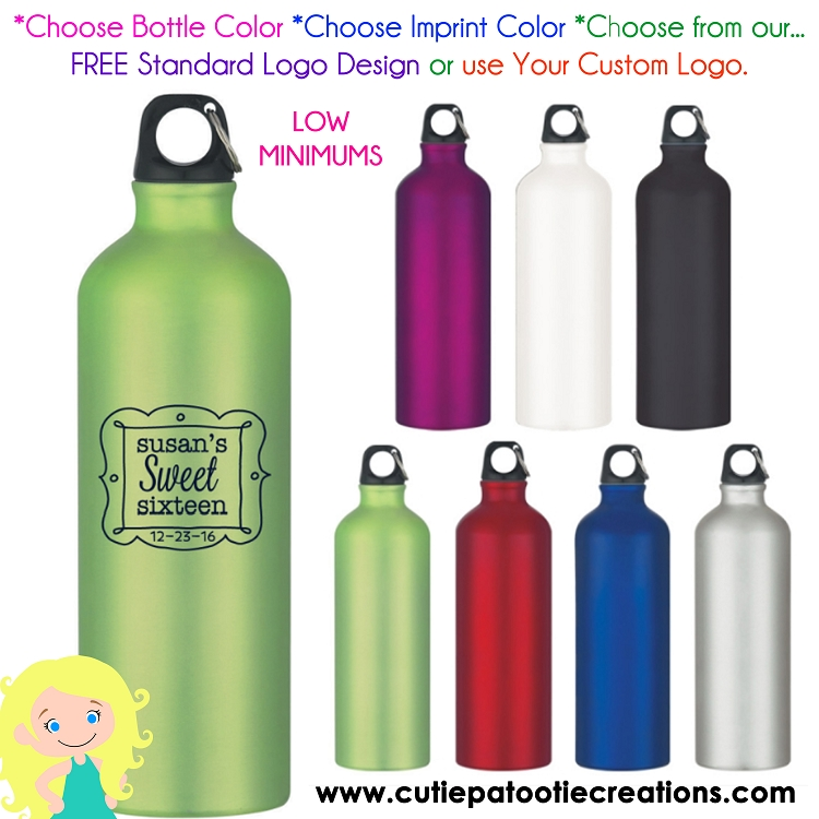 personalized stainless steel water bottles with your logo or our logo low minimums