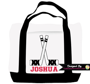 Hockey Sticks Personalized Tote Bag