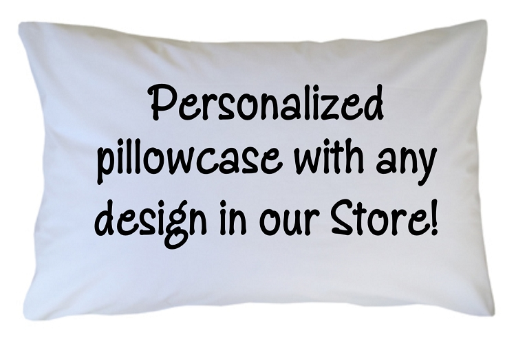 Personalized Pillowcase - Custom with Any Design Theme in ...