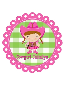 Pink Cowgirl Birthday Party T-Shirt or Onesie