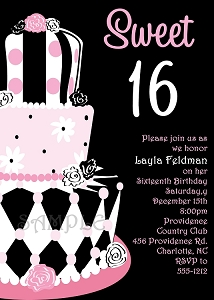 Sweet 16 Birthday Invitations - Quinceanera Invitations