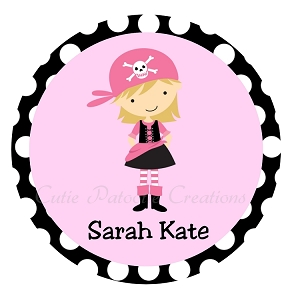 Personalized Pirate Girl TShirt or Onesie